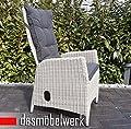dasmöbelwerk Polyrattan Hochlehner mit Sitzpolstern Rattan Stuhl Relax Sessel Gartenmöbel Gartenstuhl PISA Silber Grau 2er Set von dasmöbelwerk - Gartenmöbel von Du und Dein Garten