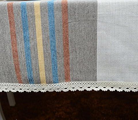 Billion Gute Marge Der Tischdecke,Einfache Moderne Mode Grau Gestreifte Silberne Seide Tischdecke,Stoff-tischdecke-A 150x240cm(59x94inch)