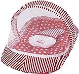 #8: MY NEWBORN® Baby Cotton Bedding Set with Mosquito Net (Red-CottonJoker)