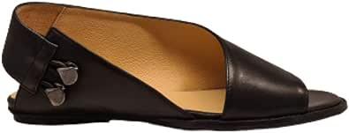 POESIE VENEZIANE 2517 - Sandalo donna pelle con scollatura esterna
