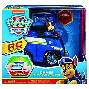 Spin Master Paw Patrol Chase RC Cruiser Police Car Motor eléctrico - Vehículos de Tierra por Radio Control (RC) (Police Car, Motor eléctrico, Listo para Usar, Azul, Plata, Niño/niña, 4 año(s))