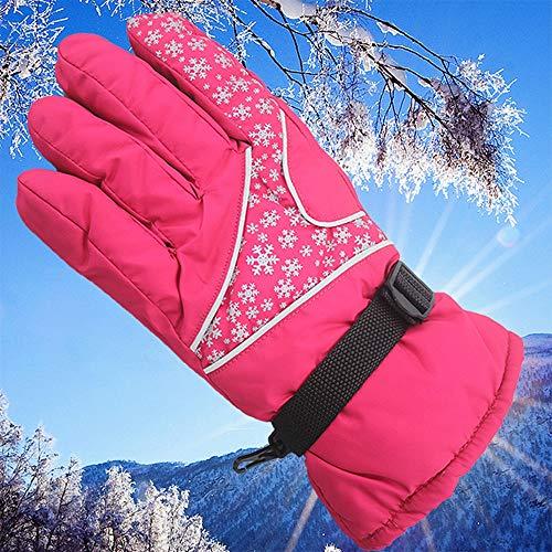 jialun-guanti guanti da ciclismo della peluche guanti da ciclismo sport invernali guanti da snowboard per snowboard, guanti da neve impermeabili e caldi (color : red)