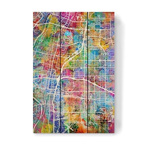 Albuquerque New Mexico Street (artboxONE Holzbild 45x30 cm Kartografie