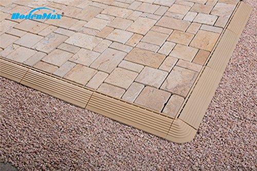 Bodenmax natural stone travertino click piastrelle per pavimenti set