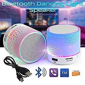 VOLTAC` ™ Bluetooth Mushroom speaker SD card support /FM Compatible for all Android- Multi Color Pattern #228219