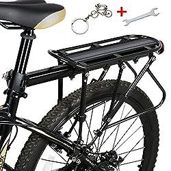 Bicicleta portaequipajes para bicicleta, West ciclismo 310LB capacidad sólido rodamientos Universal ajustable bicicleta equipaje carga Rack, Ciclismo Soporte de equipo Footstock, Infantil, negro