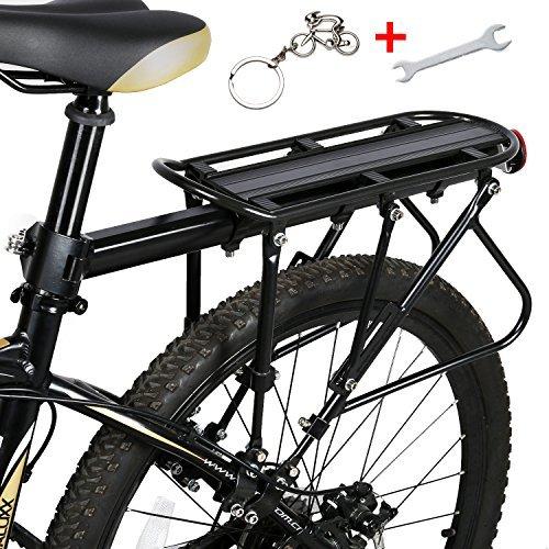 West Biking Portabicicletas rodamientos sólidos universales Ajustables de Capacidad de 140 kg para Equipaje de Bicicleta, Soporte de Equipo de Ciclismo, Infantil, Negro