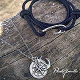 Paulo Fanello Herren-Armband 925 Silber Leder 19 cm - 0201380317_19 -