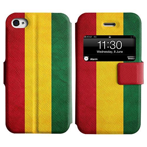 Graphic4You Vintage Uralt Flagge Von Mexiko Mexikanisch Design Leder Schützende Display-Klappe Brieftasche Hülle Case Tasche Schutzhülle für Apple iPhone 4 und 4S Bolivien Bolivianer