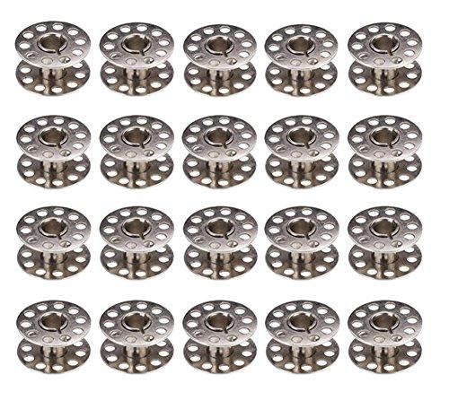 Chytaii Bobina Bolillo de hilo Canillas Metal para Máquina de Coser paquete de 20