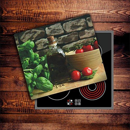CTC-Trade | Herdabdeckplatten 60x52 cm Ceranfeld Abdeckung Glas Spritzschutz Abdeckplatte Glasplatte Herd Ceranfeldabdeckung Küche