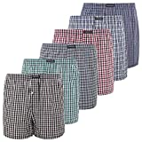 Lower East 6er Pack Herren American Boxershorts, Gr. Medium, Mehrfarbig