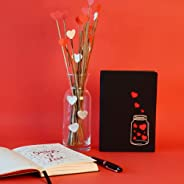 Doodle Love In A Jar Diary Notebook - B6, 192 Ruled Pages, 80 GSM (Black)