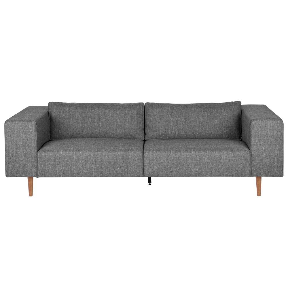 3 Sitzer Sofa BJORK Clubsofa Wohnzimmer Couch Polstersofa Longesofa Sitzmbel Grau Amazonde Kche Haushalt