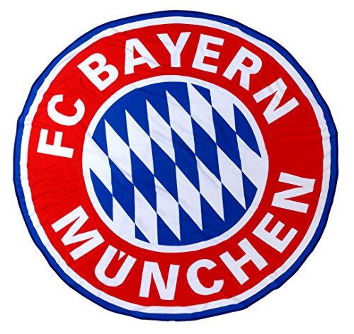FC Bayern München Strandtuch/ Badetuch/ Saunatuch Logo XXL rund, 165cm