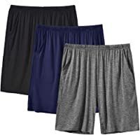 MoFiz Men's Pyjama Shorts Bottoms Ultra Soft Modal Lounge Wear Shorts with Pockets