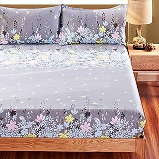 FHFGHYURBNYFGHFBY Bettlaken/Baumwoll-bettdecke/Bett Sets/matratzenbezug/Rutschfeste blätter-H 180x200cm(71x79inch)