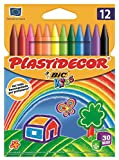 BIC Kids Plastidecor - Pack de 12 ceras para colorear