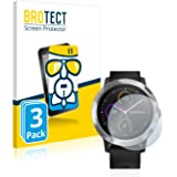 BROTECT Panzerglas Schutzfolie für Garmin Vivoactive 3 [3er Pack] - Flexibles Airglass, 9H Härte, Anti-Kratzer