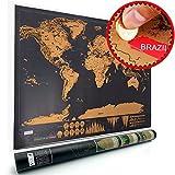 Carte du Monde à Gratter Voyage Affiche (82.5 x 59.5 cm), Scratch off World Map, Grattez les Endroits Que Vous Avez Visité VOOA Décoration D'intérieur Poster