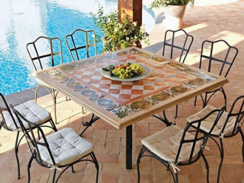 Tavoli Da Giardino In Ferro Con Mosaico.Dafnedesign Com Tavolo Da Giardino Tavolo Thor Quadrato Cm 140 X