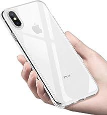 iPhone XS Max Hülle, Infreecs Silikon Handyhülle iPhone XS Max Schutzhülle Ultra Dünn Weiche Stoßfest Kratzfest TPU Bumper Case für iPhone XS Max Case Cover - Transparent