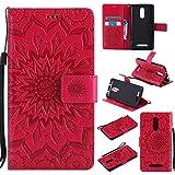 Guran® Funda de Cuero Para Xiaomi Redmi Note 3 / Note 3 Pro Smartphone Función de Soporte con Ranura para Tarjetas Flip Case Cover-rojo