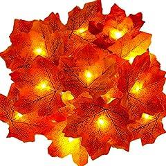 Idea Regalo - addobbi natalizi per albero di natale decorazioni natalizie per la casa finti fiori artificiali ghirlanda natalizia acero rosso pianta finte caminetto elettrico decorative luci natale esterno