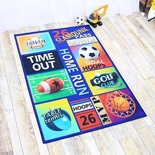 TYYM carpet Kinder Teppich Spielmatte Cartoon Rechteckigen Ball Boy Baby Krabbeln Matte 02-80 * 120CM - Glauben Kinder Teppich