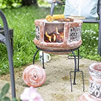 Oxford Barbecues Maisemore Clay Chiminea With BBQ Grill