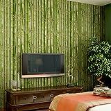 Papier peint peinture murale Feuilles fraîches fond de thé salon de thé bambou papier peint 3D fonds d'ecran , 86091 green