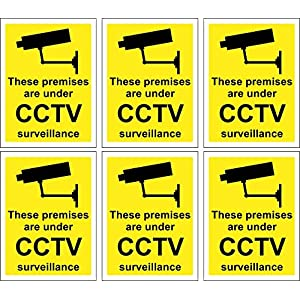 6-x-CCTV-Signs-Self-Adhesive-100mm-x-75mm-Suitable-For-Outdoor-Use