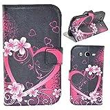 HUANGTAOLI Custodia in pelle Flip Case Cover per Samsung I9060i Galaxy Grand Neo Plus(i9060i/i9060/i9062)