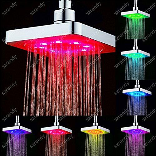 Drop Shipping 7 Farbe allmähliche Fading LED Duschkopf Regen Decke Duschkopf 8020-B1 7 Colors Fading (Kunststoff-drop-decke)