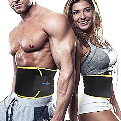 Waist Trimmer,Neoprene Sweat Belt,Weight Loss Belt,Stomach Fat Burner,Adjustable Caloric Burner,Sauna Band - Increases Core Stability & Metabolic Rate while Shedding Excess Weight by Opecking