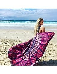 WDBS Nappe / pendentif mural / serviettes de plage d'été / serviettes de plage ronde de 150 cm