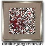 Jörg Minrath - Handgemaltes Original - Gemälde auf Holzkeilrahmen - 44,3 x 44,3 cm - Abstrakte Bilder - Modern Art - Kunst - Painting - Zeitgenössische Kunst - Abstrakte Malerei