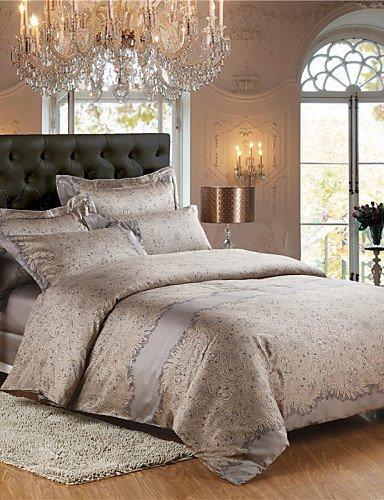 LIANGTT Vier Sätze Bettwäsche,Bettwäsche aus ägyptischer Baumwolle 4tlg Königin König Doppelbett Größe, Queen (König Bettwäsche Baumwolle)