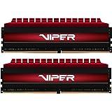 Viper 4 PV416G373C7K DDR4 3733MHz C17 Módulo de Memoria XMP 2.0 Alto Rendimiento Rojo 16 GB (2x8GB)