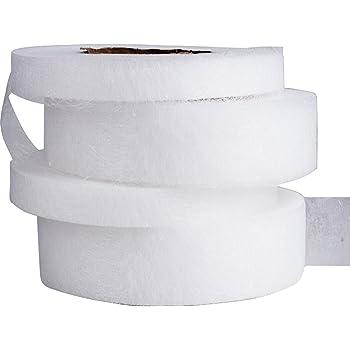 250m (10mm + 20mm) Nastro Adesivo Orlo Tessuto Bianco Termoadesivo Fusione Facile Rapido Cucito per Jeans Pantaloni Abbigliamento Vestiti 4 Rotoli