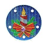 Demiawaking DIY 5D Diamond Painting Kit con Luci a LED Bianche Calde Luce Notturna per Bambini Lampada Decorativa per Soggiorno Camera da Letto Decorazioni Natalizie (Candela Natale)