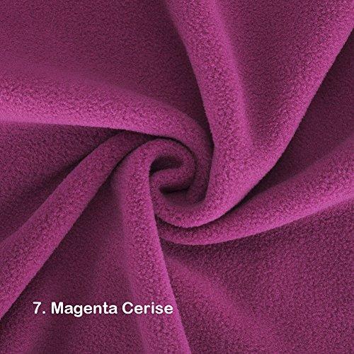 Neotrims Knit Rib Fabric & Cuffs Polar Fleece-Stoff, wunderschöner Plüsch-Flor, halber Meter, die vegane Alternative zu Wolle, mit Antiknötchen-Bildung, in 21Farben, für Kleidungsstücke, Dekoration und Bastelarbeiten, Polyester, rose, ½ Metre (Ribbon-fleece Pink)