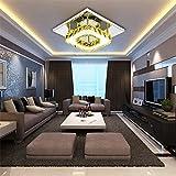 ETiME Kristall Deckenleuchte Warmweiss Modern Deckenlampe LED Edelstahl Wandleuchte Kronleuchter für Flur, Gang, Balkon, Schlafzimmer (12W Bernsteingelb Warmweiss)
