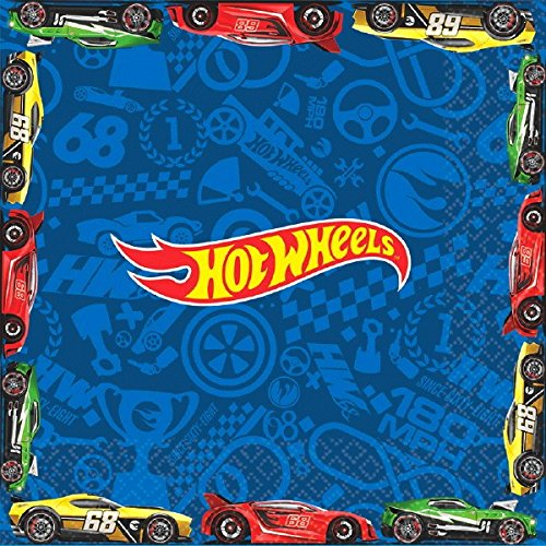 American Greetings Hot Wheels Lunch Napkins (16 Count) (Hot Wheel-party Supplies)