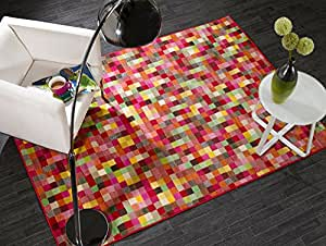 Flair Rugs Retro Funky Pixel Rug, Multi, 160 x 225 Cm