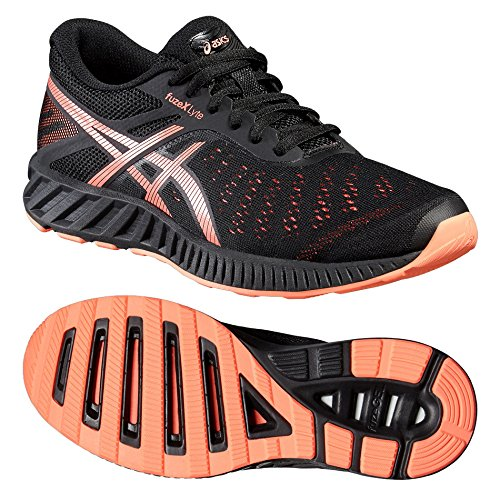 Asics FUZE X LYTE Scarpe da corsa da donna Black/Orange - 4.5 UK
