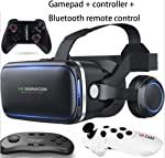VR Headset, 108° FOV, Eye Protected HD Virtual Reality Headset w/Touch Button for iPhone Xs/XR/X Max X 8 7 6 6s plus...