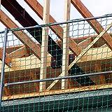 Seitenschutznetz 5,00 x 2,00 m, inkl. Gurtschnellverschlüssen, PP grün, Mw. 100 mm, DIN-EN 1263-1