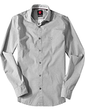 Strellson Sportswear Herren Hemd Modisch, Größe: S, Farbe: Grau