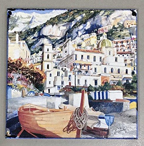 Stamperia Cerrone Costiera Amalfitana, piastrella mattonella ceramica 15x15 cm